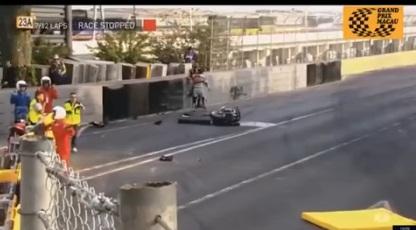 Imagens chocantes! Piloto morre em grave acidente de moto no GP de Macau