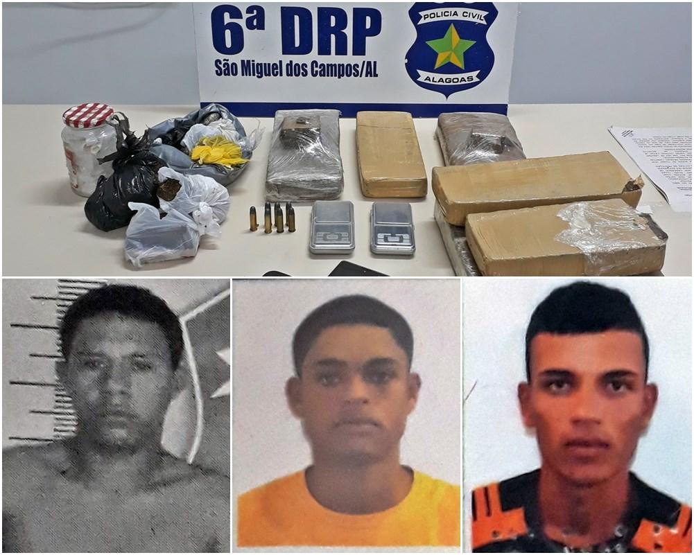 POLÍCIA  6ª DRP desmantela esquema de tráfico de drogas e apreende quase 8kg de maconha em São Miguel dos Campos