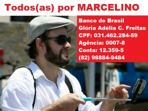 Familiares iniciam campanha para tratamento do jornalista Marcelino Freitas Neto