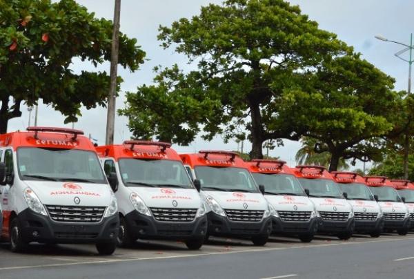 MODERNIZAÇÃO Governo vai entregar seis ambulâncias para o Samu nesta quinta (8)