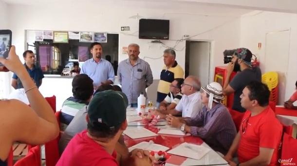 Rodrigo Cunha é  recebido  por amigos em Santana do Ipanema