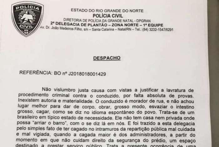 Delegado manda soltar homem preso por defecar em creche: 'Não achou lugar melhor para obrar'