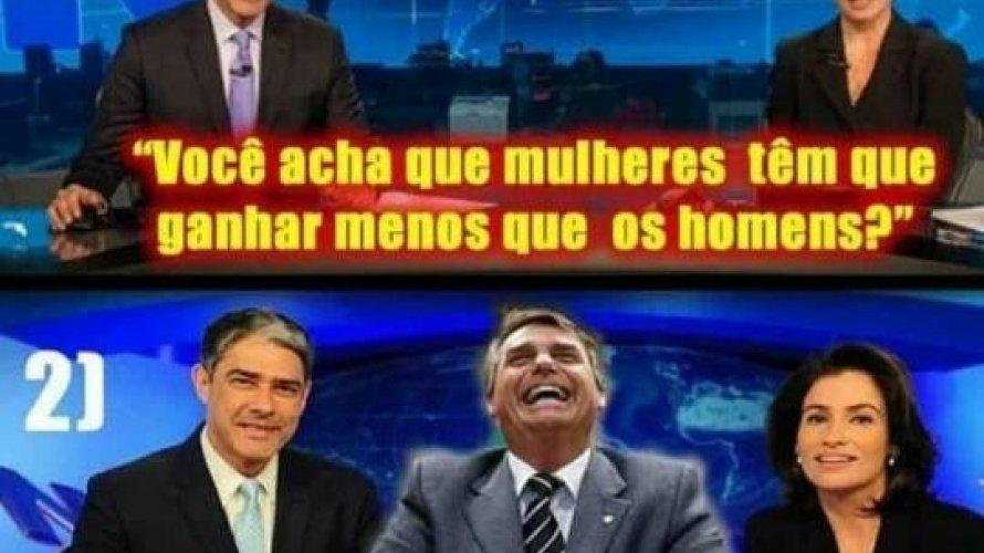 Entrevista de Bolsonaro na bancada do JN repercute com memes nas redes sociais