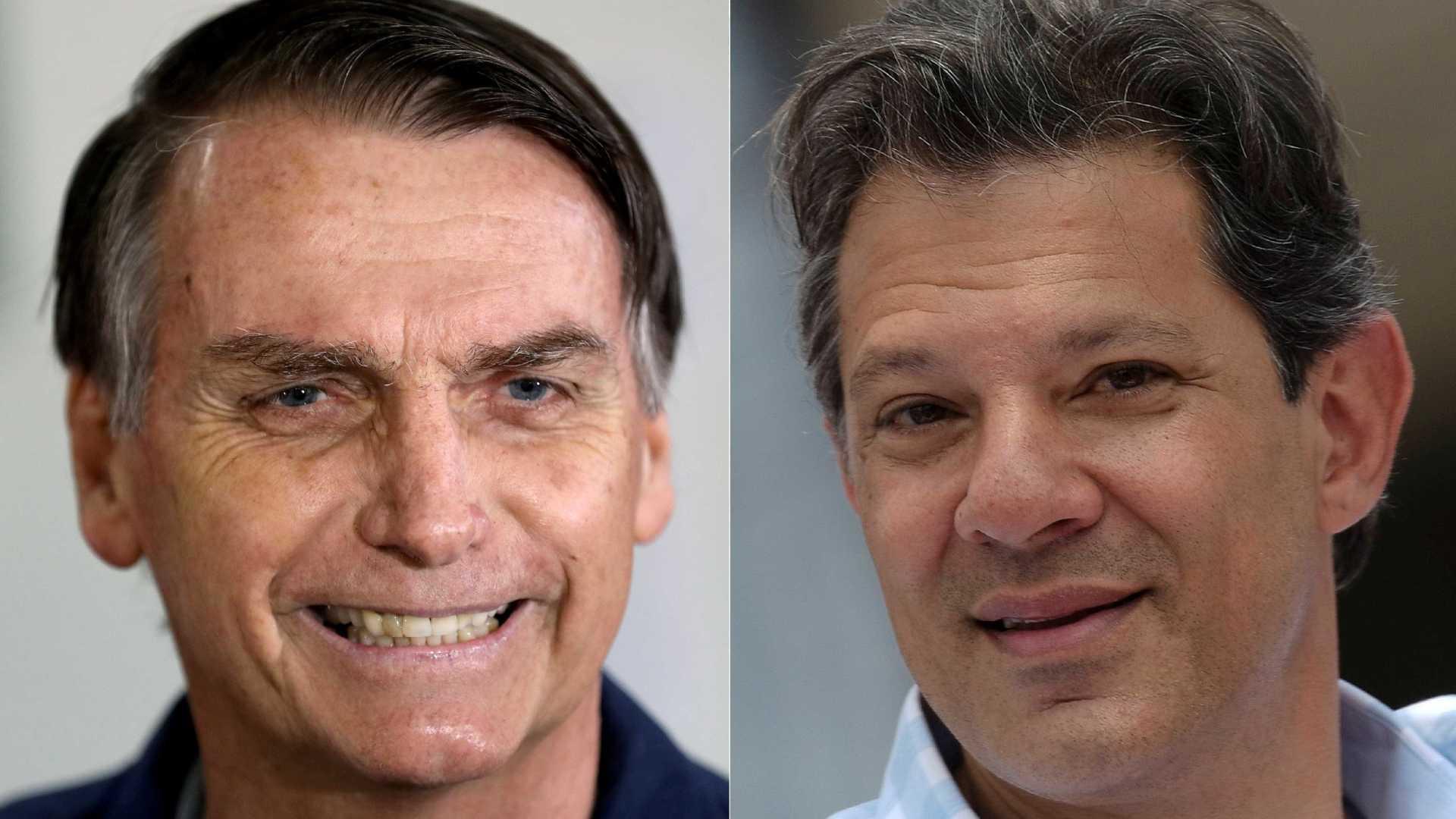 Pesquisa Vox Populi mostra Bolsonaro e Haddad empatados