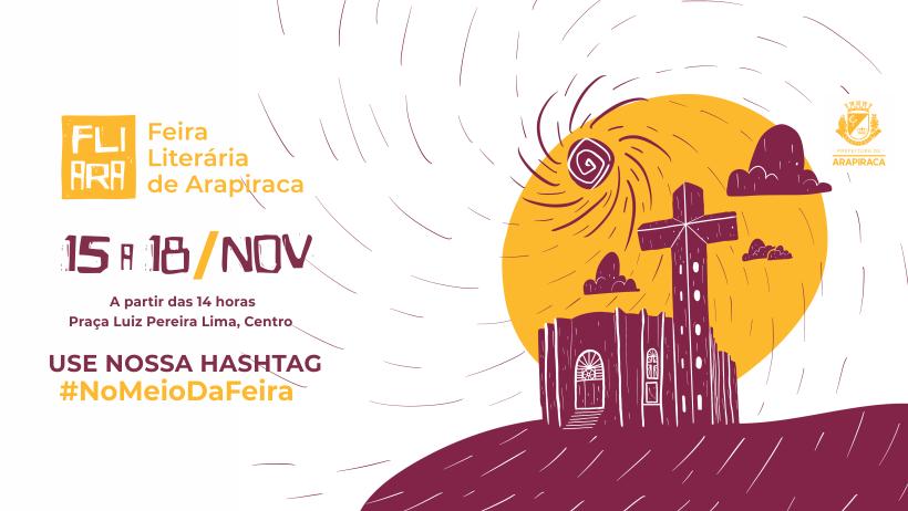 Com entrada franca começa hoje a Feira Literária  de Arapiraca, veja mapa e programação