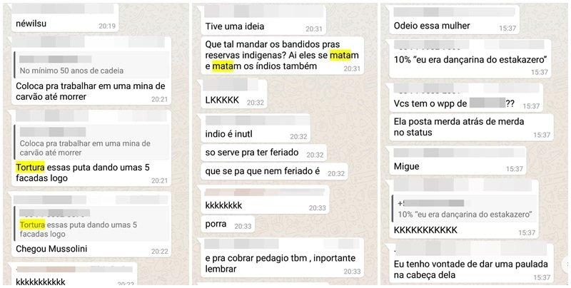 """Conversas de alunos do Colégio Vieira em Salvador /BA, vazam e chocam pelo conteúdo: """"Tortura essas putas"""""""