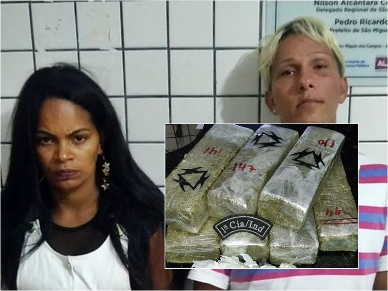 1ª Cia apreende mais de 5 kg de maconha em São Miguel dos Campos