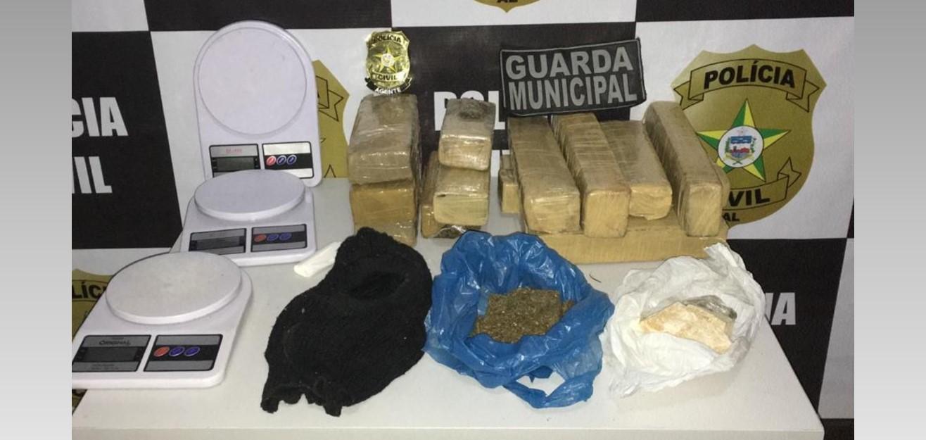 Operação Integrada entre Polícia Civil e Guarda Municipal apreende drogas em Teotônio Vilela