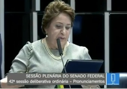 Renilde Bulhões assumiu mandato de senadora após licença de Collor