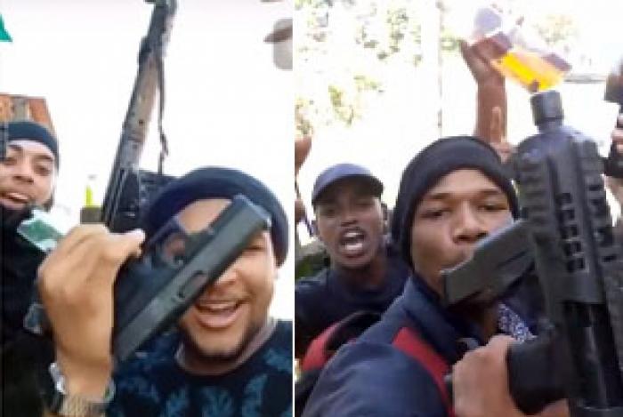 Vídeos: traficantes de Angra ostentam armas comemorando vitória em disputa por território