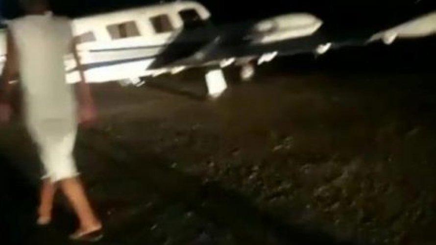 Avião de Amado Batista faz pouso de emergência em Jequié. Veja vídeo