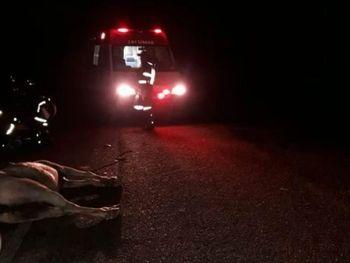 Sertão: Colisão entre moto e cavalo deixa motociclista morto e agricultor ferido em trecho da AL 220
