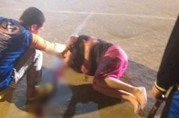 Vídeo. idoso morre em hospital após carro invadir calçada em Santana do Ipanema
