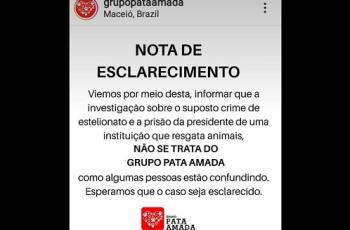 ONG Pata Amada esclarece que não tem relação com fraude descoberta pela polícia