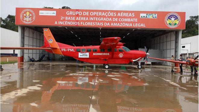 Aeronave usada para combater queimadas em Rondônia foi adquirida com recursos do Fundo Amazônia