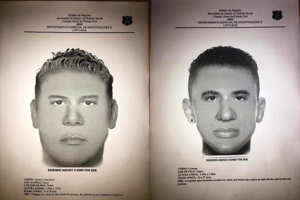 Polícia Civil divulga retratos falados de suspeitos de assaltar e decepar dedos de comerciante arapiraquense