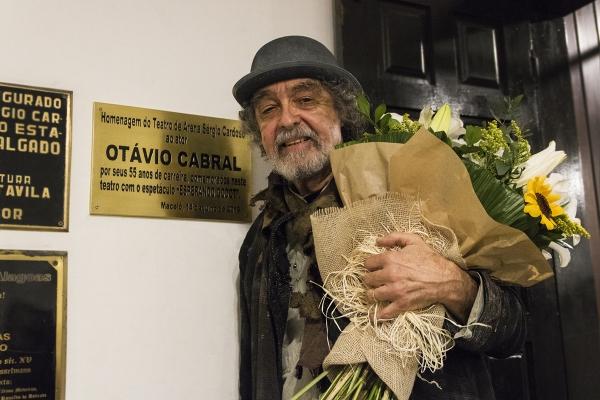 55 ANOS DE CARREIRA Diteal e artistas prestam homenagem ao ator alagoano Otávio Cabral