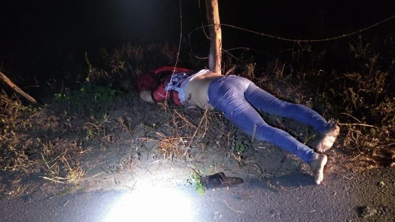 Arame farpado atravessado na AL-115 deixa uma mulher morta e um homem ferido