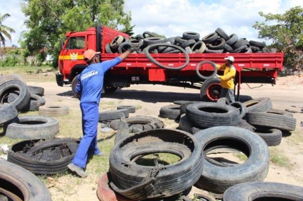 COMBATE AO AEDES AEGYPTI Governo de Alagoas realiza campanha de recolhimento de pneus em todo o Estado