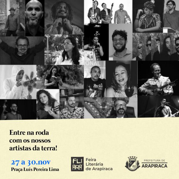 FEIRA LITERÁRIA DE ARAPIRACA 2019 COMEÇA NESTA QUARTA; VEJA PROGRAMAÇÃO