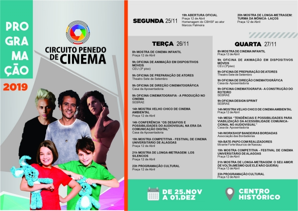 ENTRADA GRATUITA Circuito Penedo de Cinema 2019 terá filmes premiados e presenças nacionais