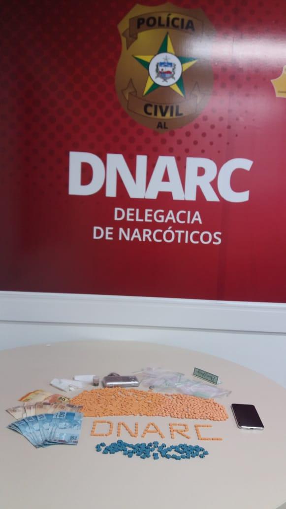 Polícia Civil prende dois homens e apreende droga sintética em Maceió