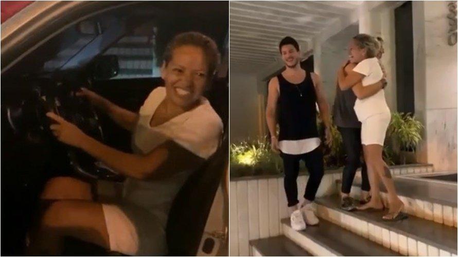 Casal de famosos presenteia babá da filha com um carro de R$ 100 mil; veja vídeo
