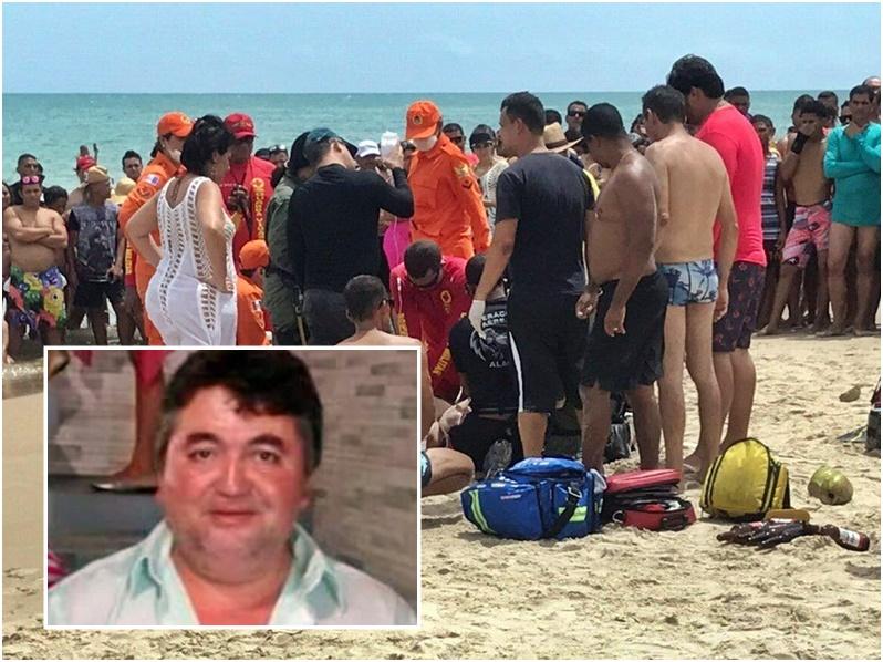 Idoso morre após sofre mal súbito na Praia do Francês
