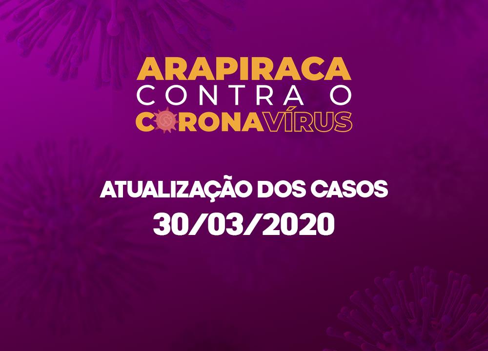 CORONAVÍRUS: ARAPIRACA FINALIZA SEGUNDA-FEIRA (30) COM 42 CASOS SUSPEITOS E 7 DESCARTADOS