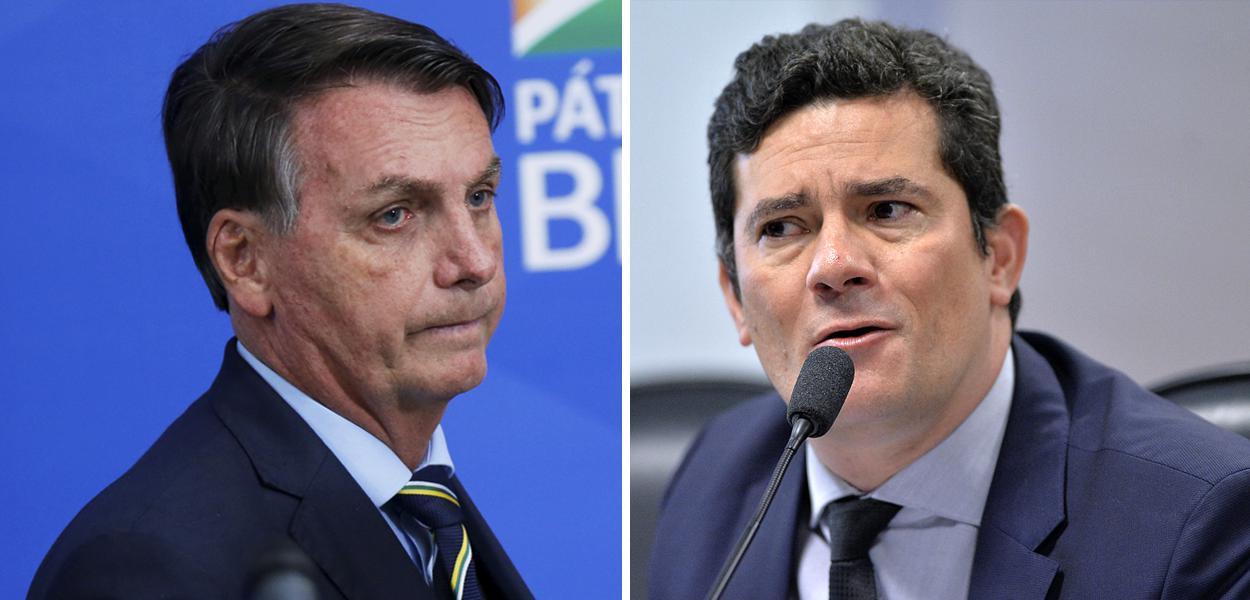 Bolsonaro diz que Moro tentou usar PF para chantageá-lo por uma vaga no STF