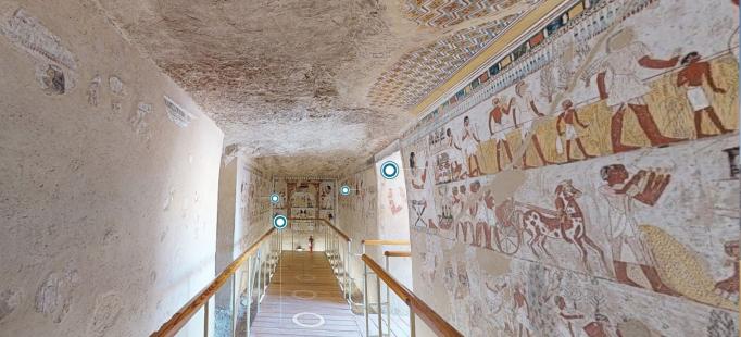 Visite a tumba de Menna, uma das mais belas e mais bem preservadas do Egito, em casa