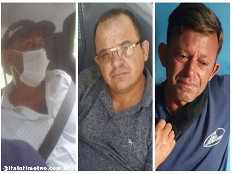 Delmiro Gouveia: Três acusados de homicídio,estupro e roubo são presos