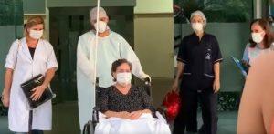 VÍDEO: Ex-prefeita Renilde Bulhões sai do hospital após se curar da Covid-19