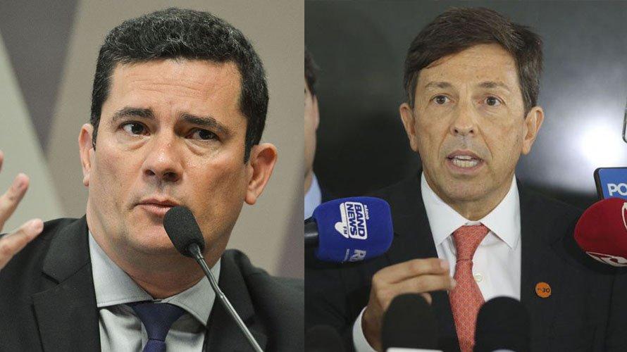 Ex-ministro Sergio Moro e João Amoêdo, do Novo, trocam afagos nas redes sociais