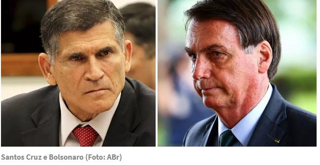 General Santos Cruz faz duro questionamento a Bolsonaro e evidencia racha militar