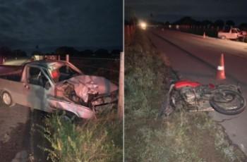 Colisão de carro em moto deixa três feridos e homem e criança mortos, na AL 220
