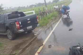 Colisão entre caminhonete e moto deixa motociclista morto na AL-225