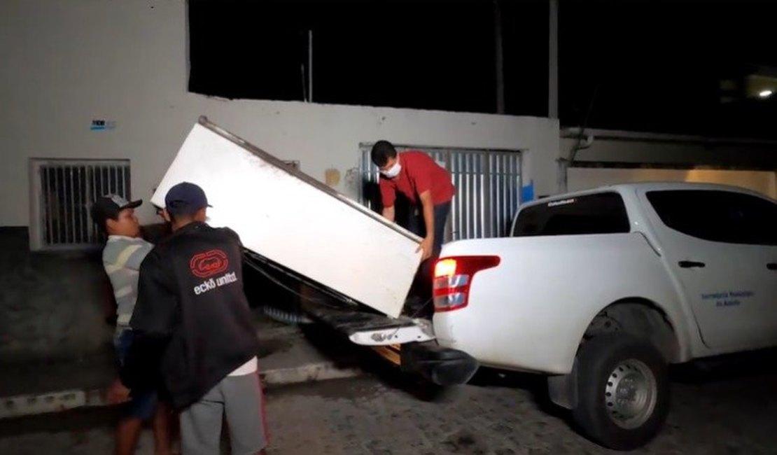 VÍDEO: Caminhonete da Secretaria de Saúde é usada para fazer mudança em Junqueiro