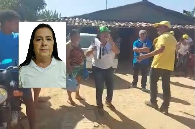 """VÍDEO: Candidata a vereadora flagrada com suposto cadastro de eleitores diz que """"salvou vidas presas por satanás"""""""