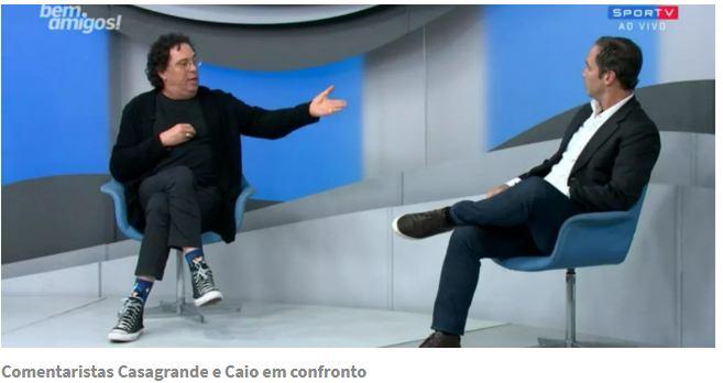Clima de guerra na Globo depois de confronto entre Casagrande e Caio no caso Robinho