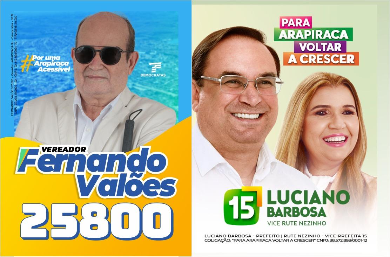 Fernando Valões, candidato a vereador apoia Luciano Barbosa para prefeito de Arapiraca