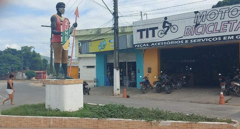 Prefeitura de União dos Palmares despreza imagens de Zumbi dos Palmares; turistas se queixam